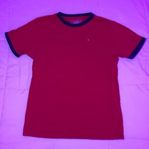 Tommy Hilfiger Red and Blue T-Shirt